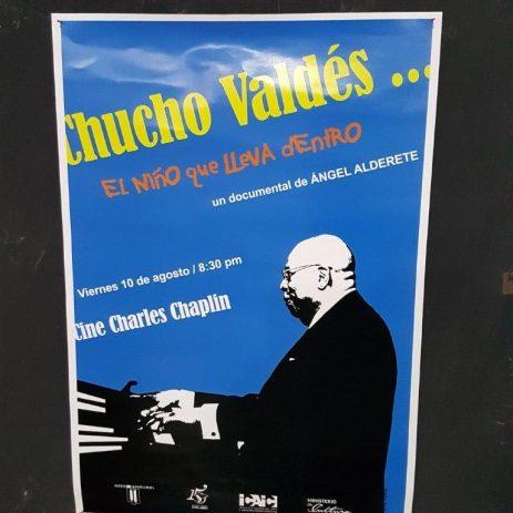 Cartelera del documental de Chucho Valdés. Título: Chucho Valdés ... El niño que lleva dentro.